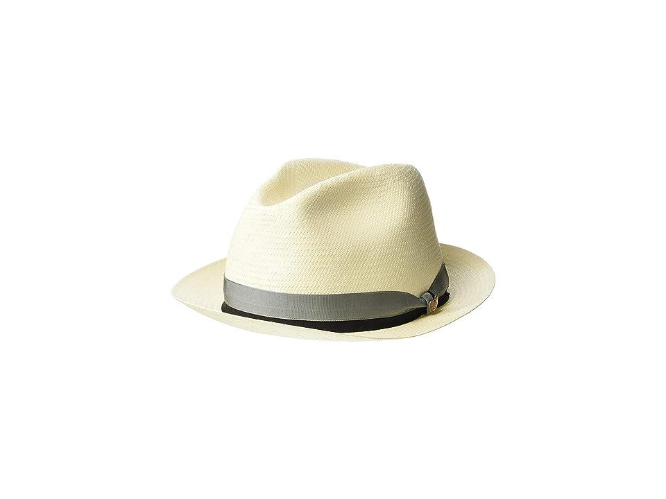 SCALA Shantung Fedora (Bleach) Caps