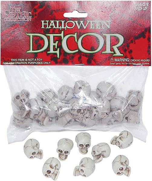 Bag Of Small Plastic Skulls 18 Pieces