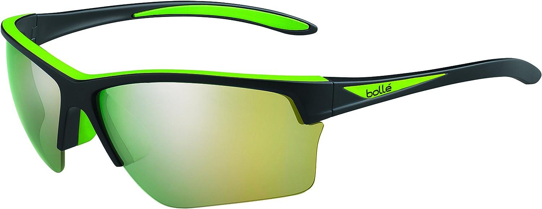 Bolle Flash Sunglasses Matte Black Green, Multi