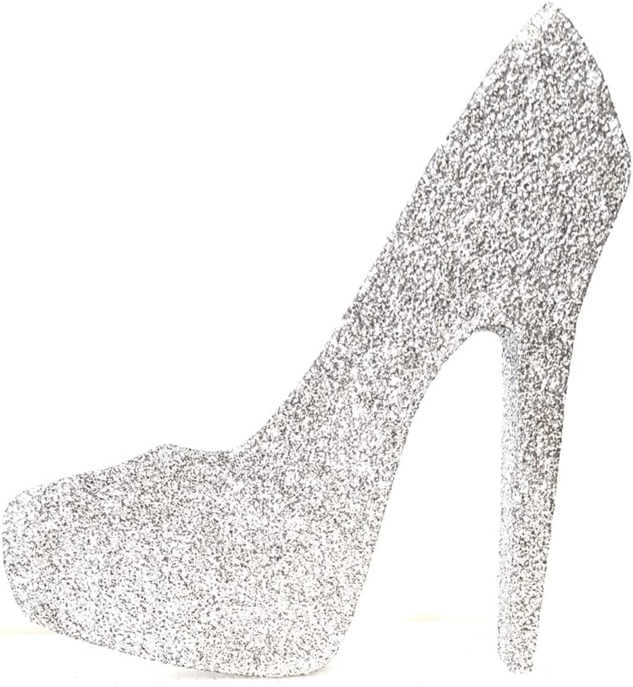 High Heel Stiletto Shoe (Silver Glitter