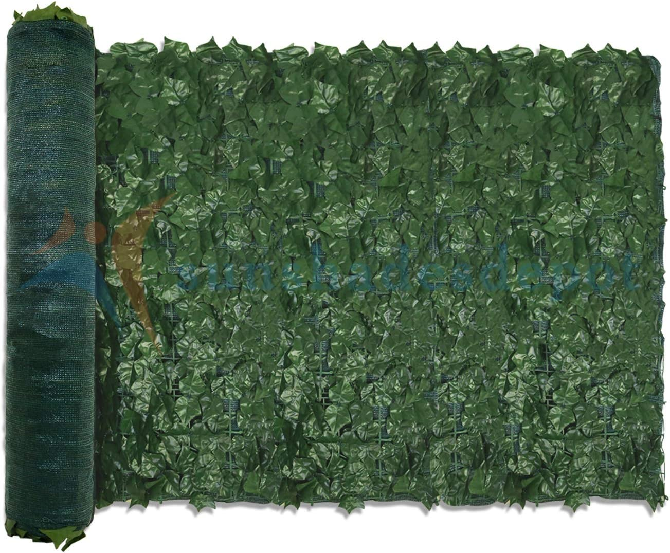 TANG by Sunshades Depot Max 80% OFF 4'x8' Artificial Dealing full price reduction Scr Faux Ivy Fence Leaf