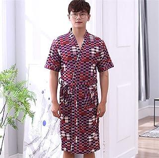 男性吸収バスローブコットンレッドXLに4 XLタオルバスローブ2ポケットベルトソフト快適なバスルーム