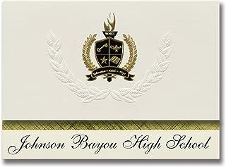 Signature Ankündigungen Johnson Bayou High School (Cameron, La) Graduation Ankündigungen, Presidential Stil, Elite Paket 25 Stück mit Gold & Schwarz Metallic Folie Dichtung B078WGPWJ1  Großer Räumungsverkauf