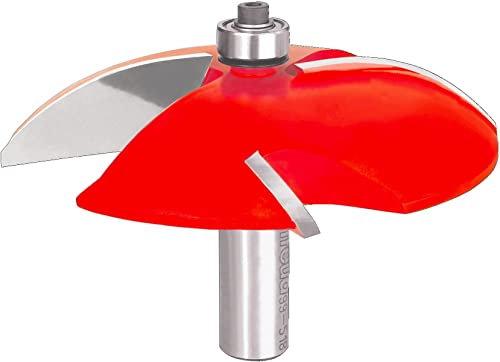"""popular Freud 3-1/2"""" (Dia.) Raised Panel Bit with 1/2"""" Shank online (99-518) Perma-shield lowest coating red online sale"""
