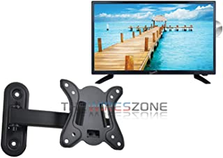 "Supersonic SC-2412 24"" LED Widescreen HDTV with DVD Player + Wall Mount."
