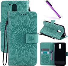 Blue Leather Wallet Case Flip Folio Case for Moto G4 Plus Magnetic Premium Cover with Detachable Strap and Card Holder CUSKING Moto G4 Plus Case