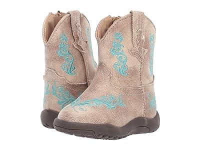 Roper Kids Eudora (Infant/Toddler) (Beige Vamp/Beige Shaft/Turquoise Embossed) Girls Shoes