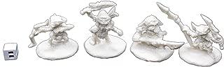 Reaper 89003: Goblin Warriors (4) Pathfinder Bones Plastic Miniature
