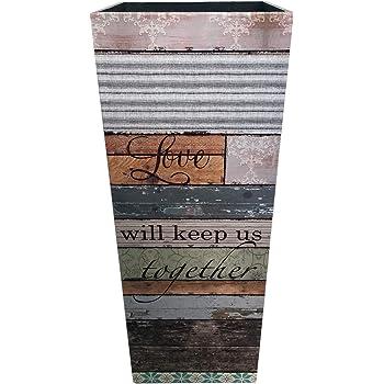 Portabastoni da Passeggio Rebecca Mobili Porta Ombrelli HxLxP - Art Misure: 49,5 x 20 x 20 cm Verde Beige Canvas Stile Vintage Arredo Casa RE6393