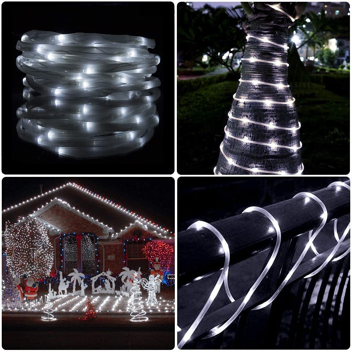 LED NEW before selling White Solar Special price for a limited time Rope Lights and Indoor Waterproof Auto Outdoor