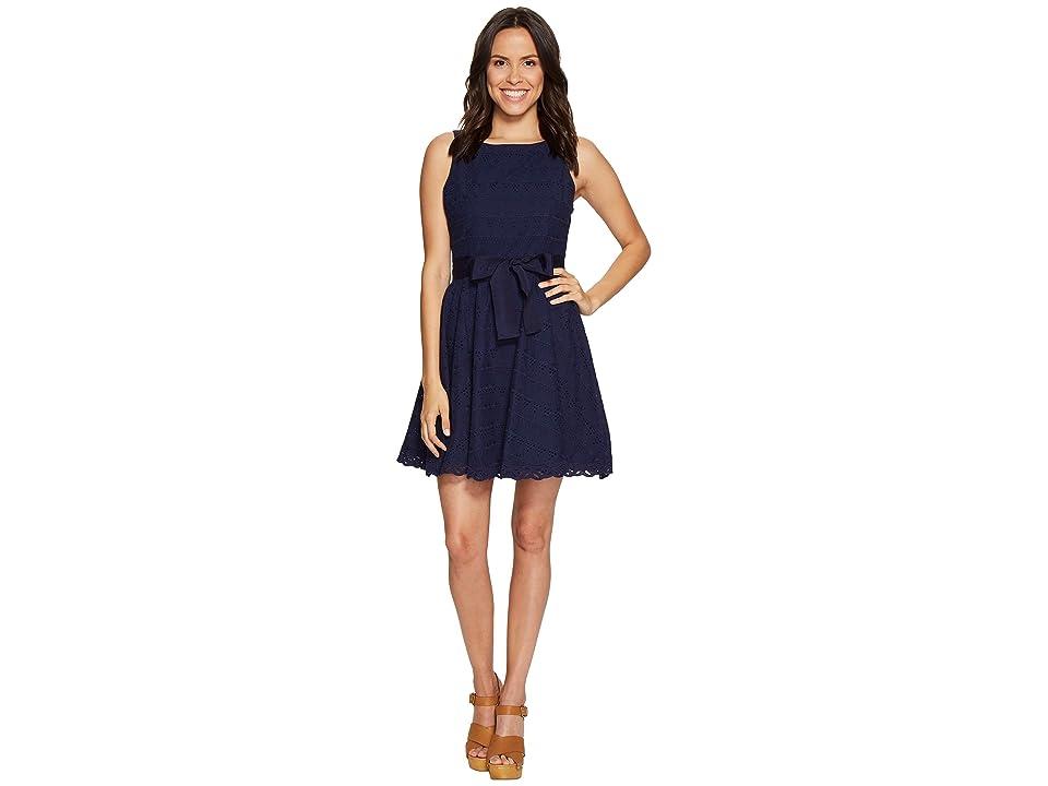 BB Dakota TY Eyelet Dress (Navy) Women