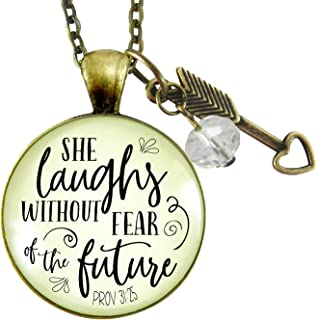 proverbs 31 she laughs necklace