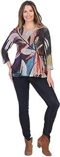 Jess & Jane Women's Wind Ballad Slub Sweater Knit High Low Slit Side Tunic