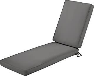 Classic Accessories Montlake Chaise Cushion Foam & Slip Cover, Light Charcoal, 72x21x3