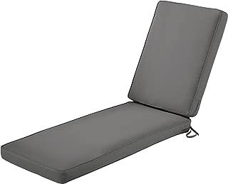 Classic Accessories Montlake Chaise Cushion Foam & Slip Cover, Light Charcoal, 72x21x3