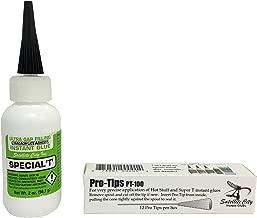 Hot Stuff Special T Thick Instant CA Glue (2oz) & Hot Stuff Pro Tips (12 pieces)