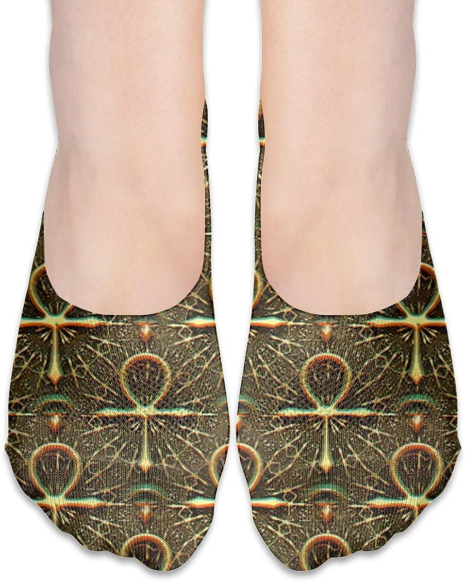 No Show Socks Women Men For Ankh Egyptian Symbol Flats Cotton Ultra Low Cut Liner Socks Non Slip