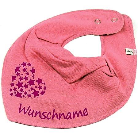 Elefantasie Halstuch Fu/ßball mit Namen oder Text personalisiert pink f/ür Baby oder Kind