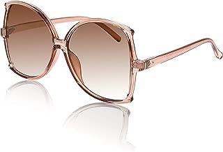 Oversized Sunglasses for Women Big Frame Glasses Gradient Colored Lens UV400