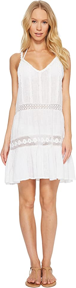 Cotton Slub Ruffle Dress Cover-Up