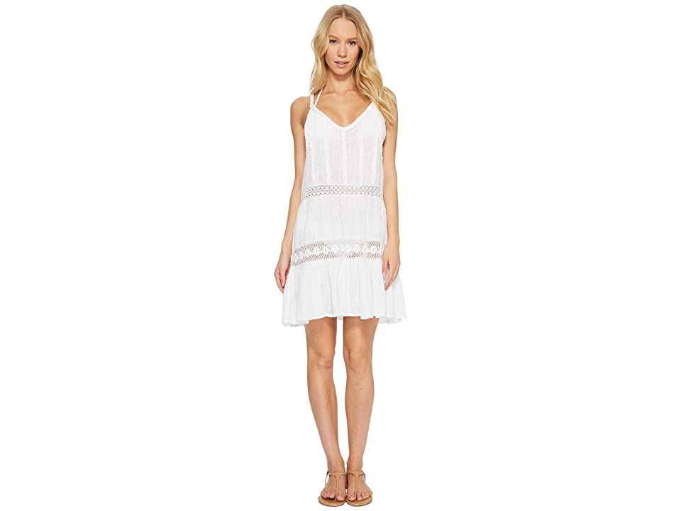 Polo Ralph Lauren Cotton Slub Ruffle Dress Cover-Up (White) Women
