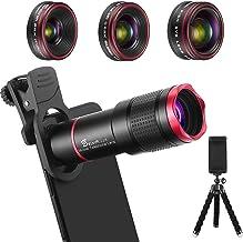 Phone Camera Lens Kit 9 in 1: 22X Telephoto Lens, 205°...