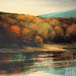 ArtToCanvas 27W x 27H inches : Late September Shore by Robert Striffolino - Paper Print ONLY