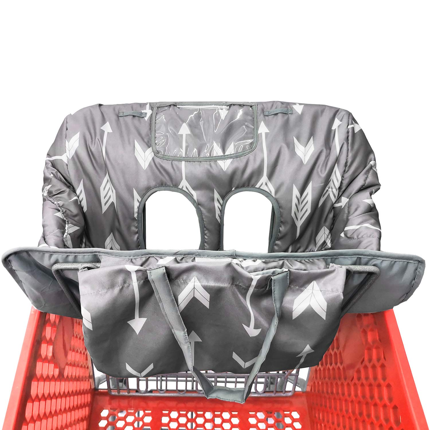 Portable Waterproof 2-in-1 Baby Shopping Cart Cover & High Chair Covers with Safety Harness for Babies & Toddler