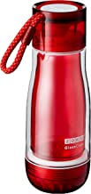 Zoku Glass Core Bottle   Double-Wall Suspended Durable Glass   Leakproof Hygienic Locking Cap with Paracord Lanyard   Larg...
