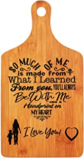 Mothers Gift – Special Love Heart Poem Bamboo Cutting Board Design Mom Gift Mothers Day Gift Mom Birthday Christmas Gift Engraved Side For Décor Hanging Reverse Side For Usage