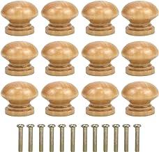 Jinlaili 12 STKS Houten Kabinet Knopen, 28 MM Ronde Vintage Lade Knoppen, Lade Trek Handvat, Keukenkast Deur Lade Pull Kno...