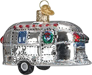 Old World Christmas Ornaments: Vintage Trailer Glass Blown Ornaments for Christmas Tree