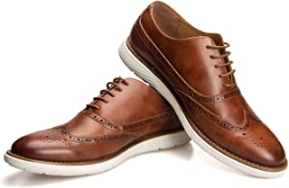 JITAI Men Oxfords Shoes Zapatos de Vestir Casuales para Hombres Zapatos de Moda Ligeros con Cordones