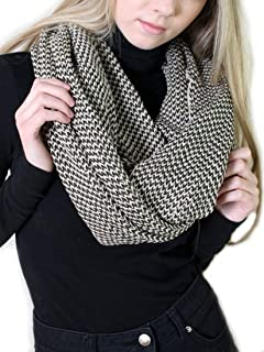 Women's 100% Organic Cotton Knit Infinity Scarf, Thick Soft Stretch Warm Unique Eco-Friendly Non-Toxic (5 COLORS)