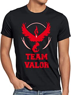 CottonCloud Team Rojo Valor Moltres Camiseta para Hombre T-Shirt Fuego