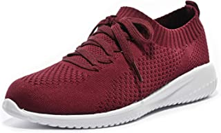 Women's 004 Walking Shoes,Slip-On Walking Shoe Soft Shoes...