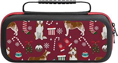 Husky Candy Canes Stockings Holiday Dog Ruby Case Compatible with Switch Case Protective Carry Bag Hard Shell Storage Bag ... photo