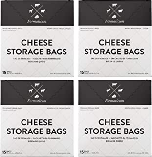 Formaticum Cheese Storage Bags, Keep Charcuterie Fresh, Wax Paper Bags, 60 Count