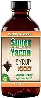 Pure Yacon Syrup 1000mg 8 fl. oz Weight Loss Natural Alternative Sweetener