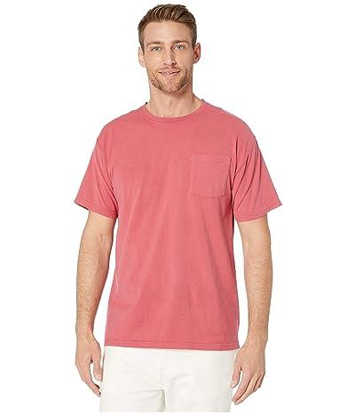 Hanes ComfortWashtm Garment Dyed Short Sleeve Pocket T-Shirt (Crimson Fall) Men