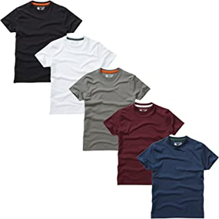 Paquete 5 Camisetas Cuello Redondo Lisas