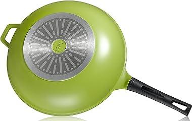"Ozeri 14"" Green Earth Wok Smooth Ceramic Non-Stick Coating (100% PTFE and PFOA Free)"