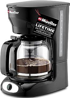قهوه ساز قطره ای 12 فنجانی مولر ، عملکرد خودکار گرم ، سیستم ضد قطره هوشمند ، دارای فیلتر ماندگار با فیلتر و شیشه بوروسیلیکات ، قهوه ساز پنجره سطح آب پاک