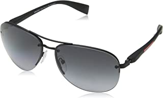 Prada Linea Rossa Sunglasses For Unisex, Grey PS56MS DG05W162 62 mm