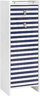 Schildmeyer Sailor Aparador Blanco Brillo/Azul a Rayas 1143x402x33 cm