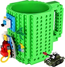 Sinnsally Build-on Brick Mug,Novelty Creative Compatible with Lego DIY Building Blocks Coffee...