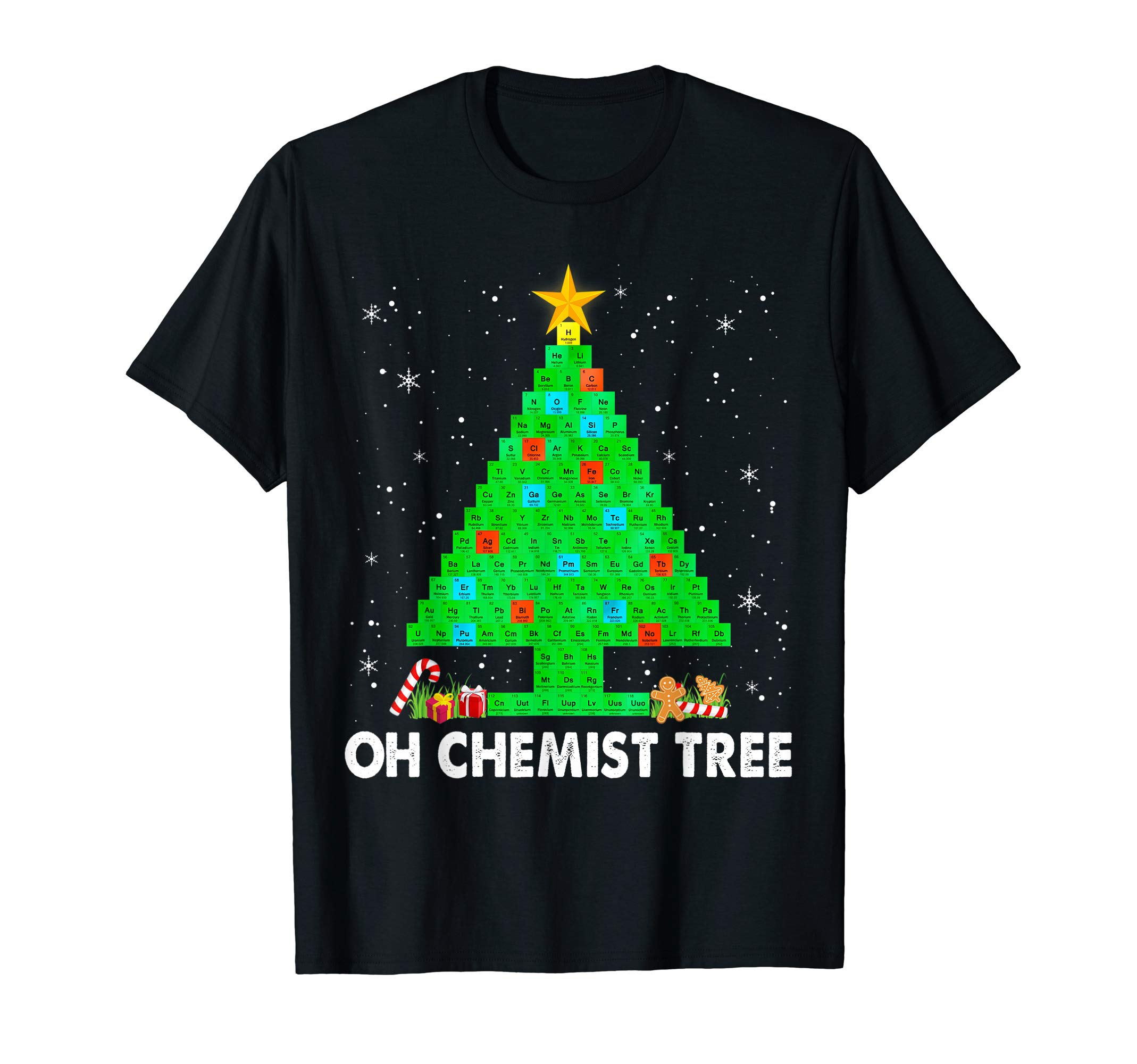 Christmas Tree Chemistry Science Periodic Table Sweater Xmas T-Shirt