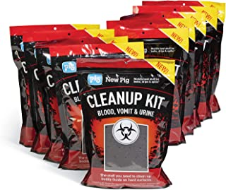 Biohazard Spill Clean Up by New Pig | Hospital Spill Kits | Bio Container Bags | Pathogen Clean Up Kits | OSHA BBP Standard | Blood, Urine, and Vomit Clean Up | Emergency Response | 10-Count, White