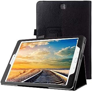 Funda Caso para Samsung Galaxy Tab A SM-T550 T551 T555 9.7 Pulgadas Smart Cover Slim Case Stand Flip (Negro) NUEVO