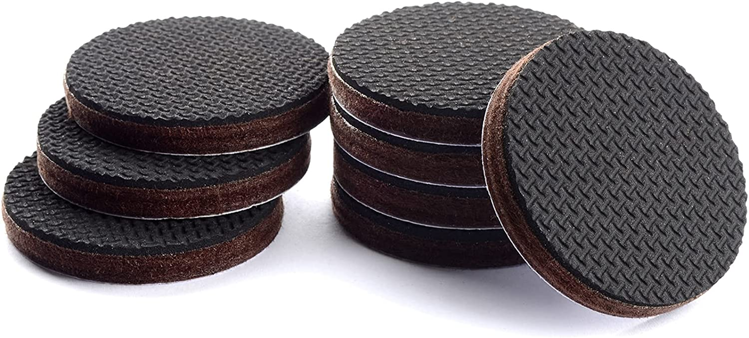 """Non Slip Furniture Pads X-Protector – Premium Furniture Grippers – 8 PCS 1 1/2"""" Furniture Pads – Self-Adhesive Rubber Feet for The Furniture - Non Skid Furniture Pads–Keep Furniture in Place! (Round)"""